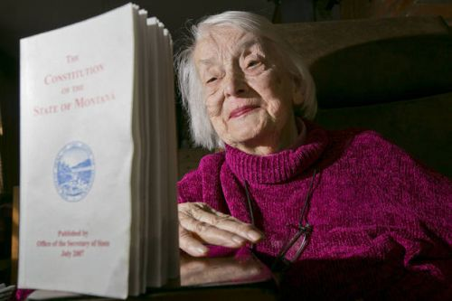 Dorothy Eck, who helped write Montana's Constitution, dies