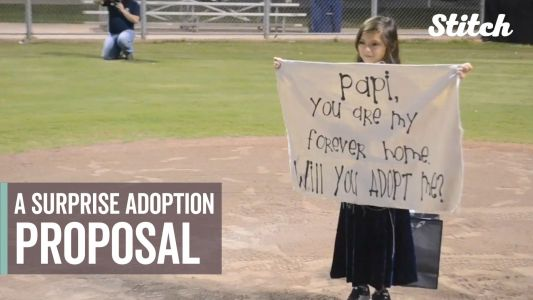 'You are my forever home': 8-year-old surprises stepdad with adoption proposal