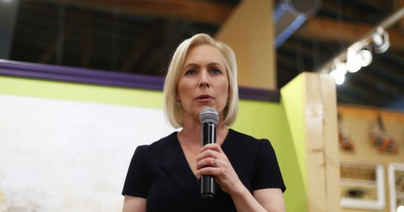 In speech at Trump hotel, Gillibrand to call Trump a coward