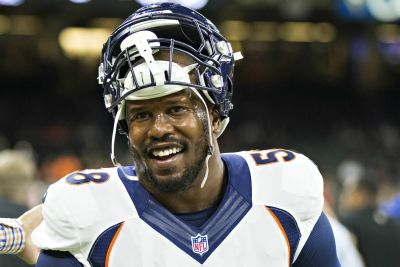Sex tape scandal can't keep Von Miller from playing NFL Santa Claus