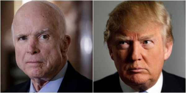 Trump complains that 'I didn't get a thank you' for John McCain's funeral