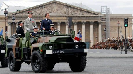 France holds scaled-down Bastille Day parade