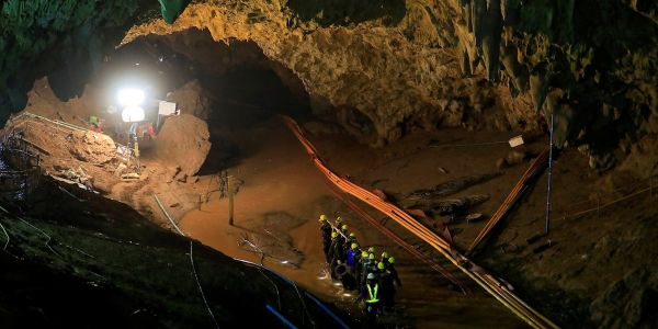 A British diver who helped save the Thai cave boys needed rescuing himself when he got stuck in a cave in Tennessee