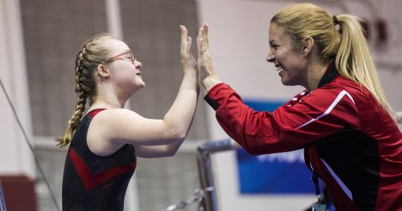 Seattle gymnast Virginia Wade conquers another challenge, wins her division in all-around at Special Olympics USA Games