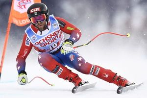 France's Adrien Theaux tops Lake Louise World Cup training