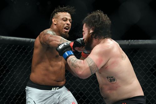 Greg Hardy 'super sad' after inhaler use overturns UFC Boston win; Dana White blames corner