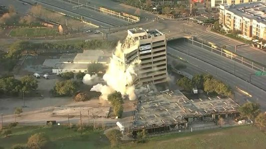 WATCH: Dallas building implosion fails