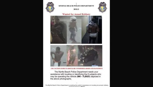 6 people wanted for armed robbery at beachfront hotel in Myrtle Beach