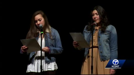 Local students perform piece about fathers leaving