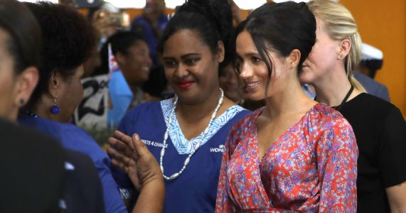 Meghan rushed through dark market on royal visit to Fiji