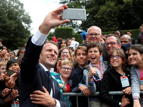 Emmanuel Macron admonished a cheeky teenager for calling him 'Manu'