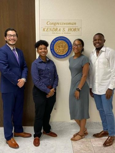 Young people participate in Kendra Horn's virtual town hall