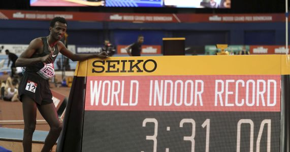 Tefera sets indoor world record in 1,500 meters