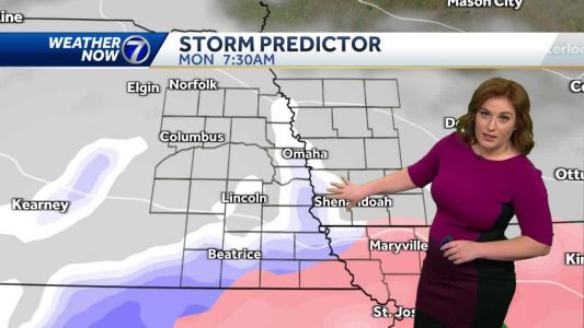 Snow and freezing drizzle arrives this afternoon