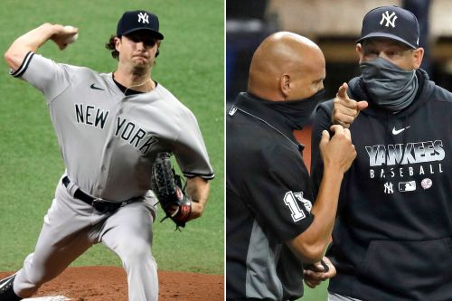 Gerrit Cole wins again, but Yankees lose nightcap as Aaron Boone gets ejected