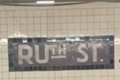 NYC subway station sign altered in tribute to Justice Ruth Bader Ginsburg