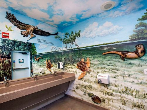 A wildlife refuge in Florida was just dubbed America's best bathroom - here's what it looks like
