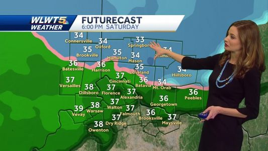 Wintry mix ending overnight