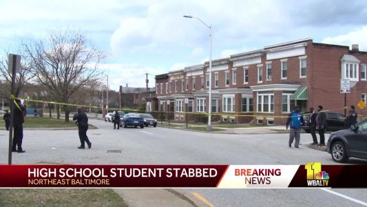 A Baltimore City College student was stabbed across from school, officials say