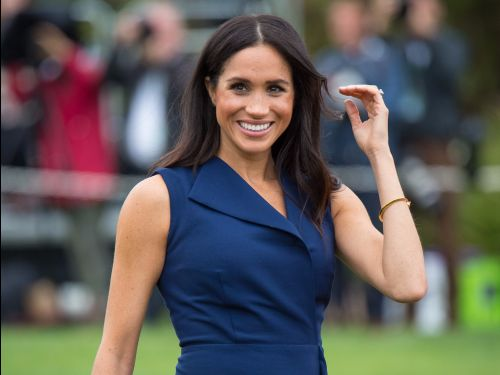 Meghan Markle wore a young fan's handmade necklace made of pasta with her $873 dress