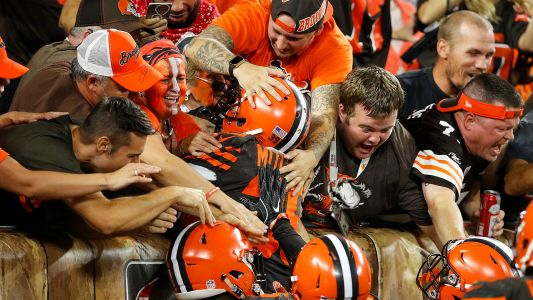 Browns fans open Bud Light victory fridges to celebrate win
