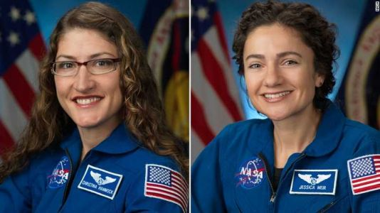 The first all-female spacewalk is underway