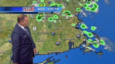Video: Storms move out, clouds remain