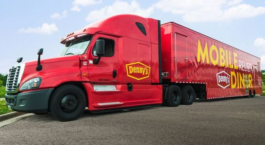 Denny's unveils new mobile diner that will serve free breakfasts in Florence-battered areas