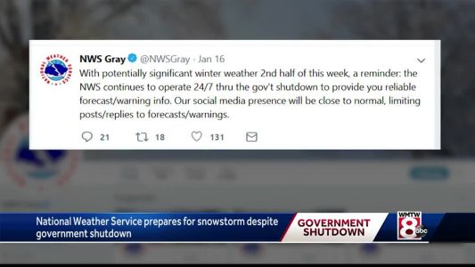 NWS workers, unpaid during shutdown, continue tracking big snowstorm