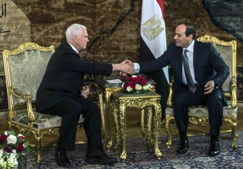 In Egypt, VP Pence pledges to stand 'shoulder-to-shoulder' in terrorism fight