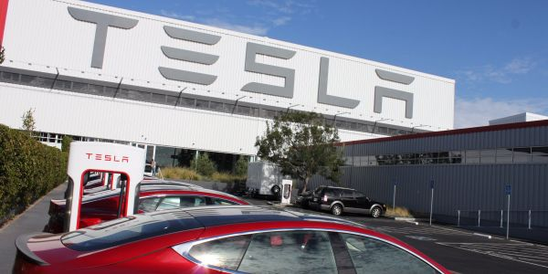 A fire broke out at Tesla's Fremont factory, but was quickly contained with no one injured