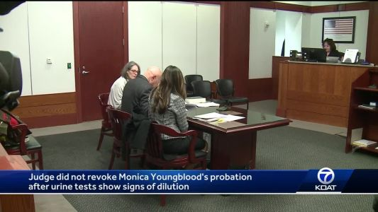 Monica Youngblood's urine tests show signs of dilution