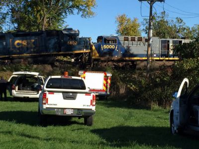 Freight trains collide head-on; 2 crew members injured