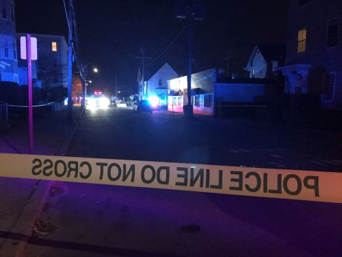 Man hospitalized after report of gunshot; 2 police cruisers collide en route to call