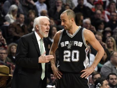 Gregg Popovich says he changed Manu Ginobili's role for the Spurs' final game of the season to pay tribute to his 'selflessness'