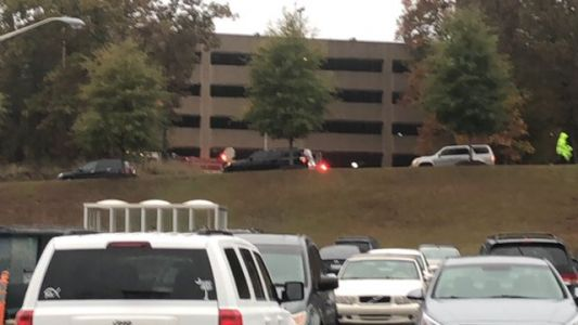 Vehicle catches fire in Greenville hospital parking garage