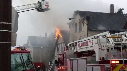 Two homes engulfed in fire on Milwaukee's south side