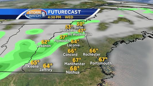 Hour-by-hour: Warmest February temperature ever in NH possible Wednesday