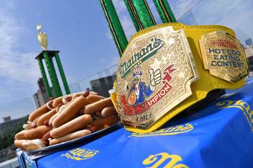 Nathan's Famous hog dog-eating champs to defend titles in secret locale