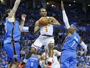 Thunder top Knicks 105-84 in OKC debuts for George, Anthony