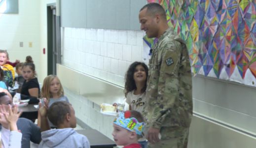 WATCH: Soldier returns home to surprise daughter at Fayette County school