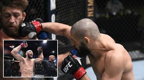 'Never seen anything like it': UFC sensation Khamzat Chimaev continues rise with ONE-PUNCH KO destruction of Meerschaert