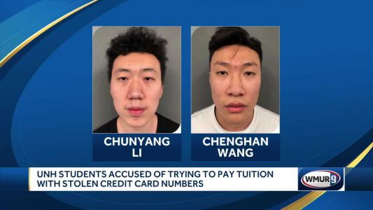 UNH students accused of trying to pay tuition with stolen credit card numbers
