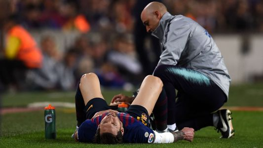 Lionel Messi out of Clasico with fractured arm