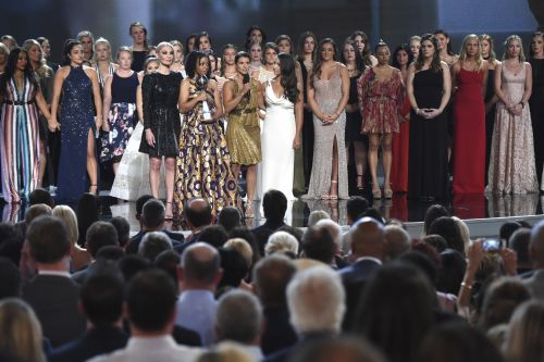 141 sexual abuse survivors accept courage award at ESPYS