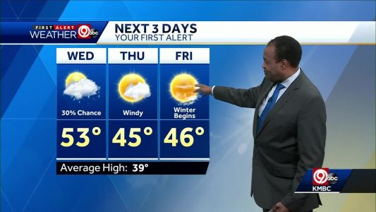 Warm Wednesday with slight chance for showers ahead