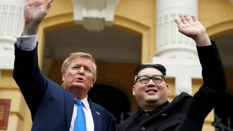 Trump and Kim pretenders promise peace as they turn heads in Vietnam