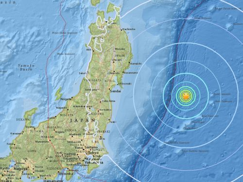 A 6.2-magnitude earthquake has struck Japan 200 miles from the Fukushima nuclear plant