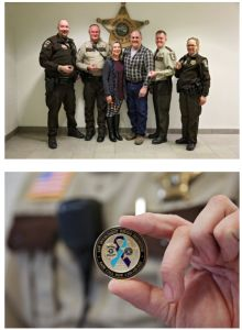 141 Suicide Prevention Coins Presented To Scott County Sheriff's Office
