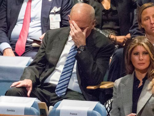 John Kelly addresses viral photos of him looking dismayed during Trump speeches, says he was just 'thinking hard'